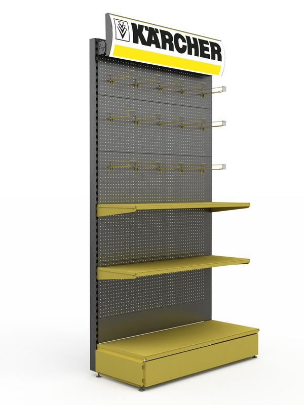 Рекламный стенд для магазина стройматериалов
