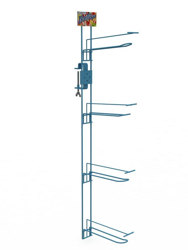 Рекламный подвес вертикальный со струбциной