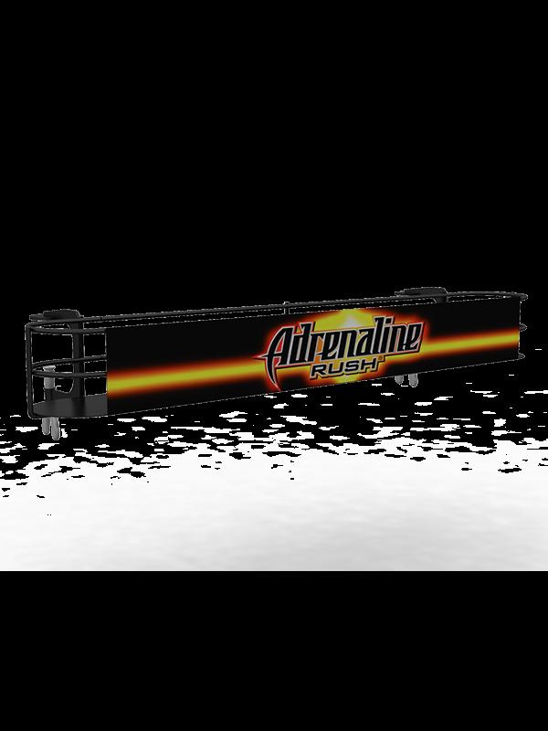 Рекламная полка навесная для напитков Adrenalin