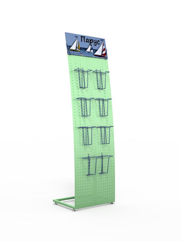 Рекламная стойка парус для буклетов и открыток
