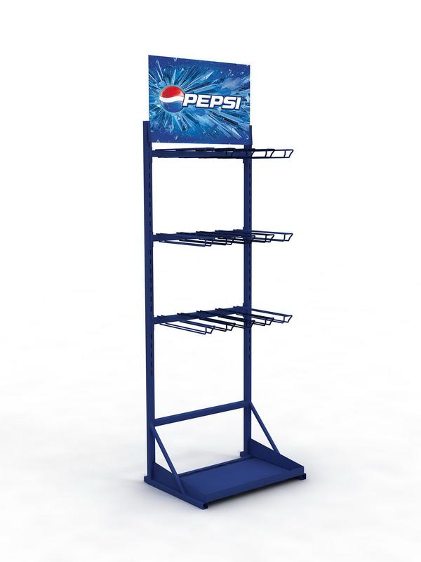 Рекламная фирменная стойка для супермаркета