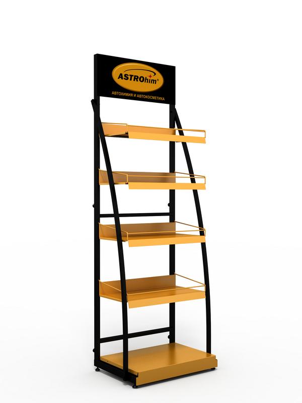 Рекламная стойка для строительных магазинов