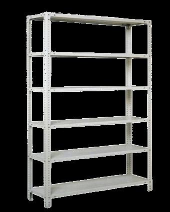 Металлический стеллаж складской шесть полок