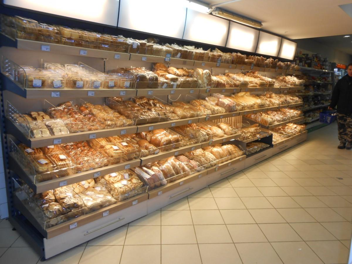 Стеллаж хлебный без подсветки, фриза и полок