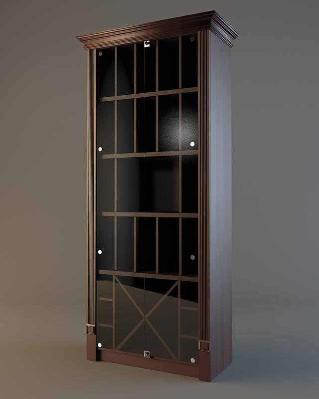 Деревянный шкаф для элитного алкоголя LD 006 (со стеклянными дверцами)