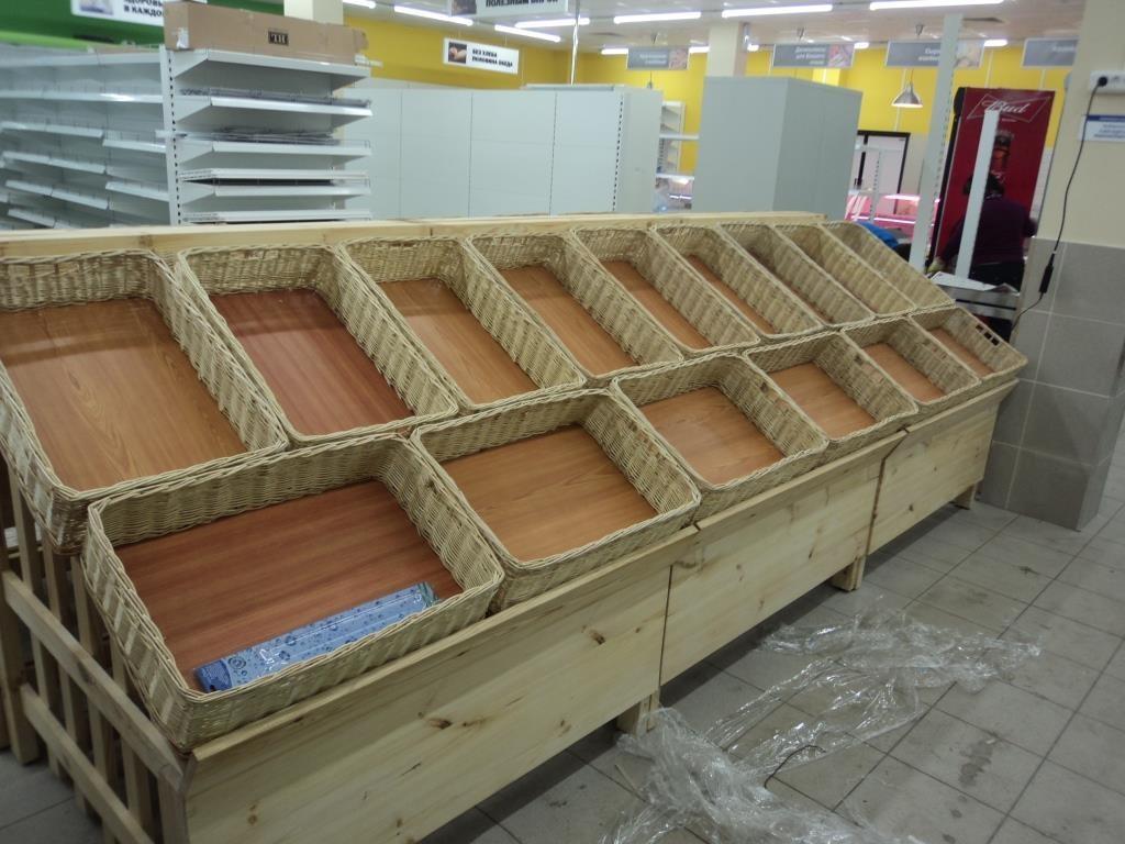 Овощной развал деревянный низкий Арт. F001.