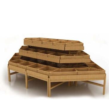 Система деревянных развалов островная для кондитерских изделий